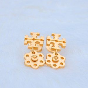 Tory Burch Vintage Frosted Gold Exquisite Earrings